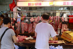 Meat stall Royalty Free Stock Photo