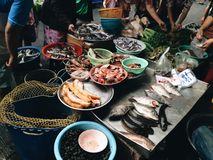 Meat stall. At thai fresh market Royalty Free Stock Photography