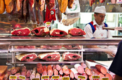 Meat stand Stock Images