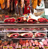 Meat stand Royalty Free Stock Image