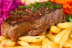 Meat steak close up Stock Image