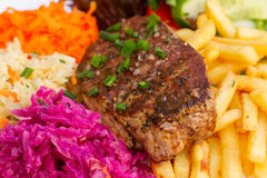 Meat steak close up Royalty Free Stock Photo