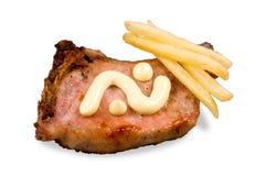Meat steak and potato Stock Photo