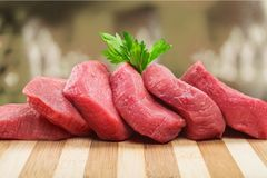 Meat. Steak Raw Freshness Beef butchery Red Royalty Free Stock Images