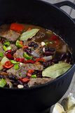 Meat Stew. Colorful Meat Stew on the Table Royalty Free Stock Photography