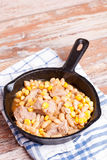 Meat stew with beans and corn Royalty Free Stock Images