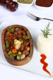 Meat stew in ceramic pot Royalty Free Stock Photo