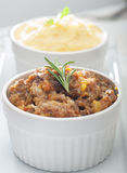Meat stew and mashed potatoes Stock Photos