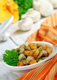 Meat stew with mushrooms and pumpkin Royalty Free Stock Photo