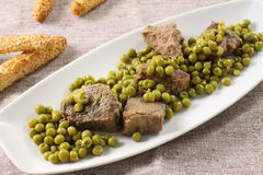 Meat stew with peas Royalty Free Stock Photos