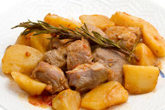Meat stew with potato Stock Image