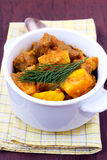 Meat stew with quinces Royalty Free Stock Image