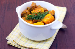 Meat stew with quinces Stock Photography