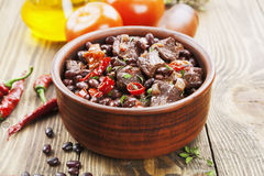 Meat stew with red beans and chili Royalty Free Stock Images