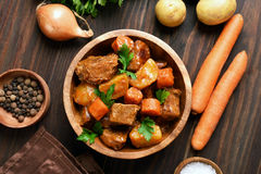 Meat stew with vegetables Stock Image