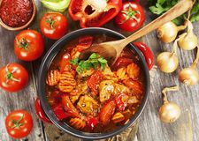 Meat stew with vegetables Royalty Free Stock Image