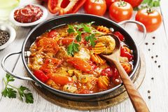 Meat stew with vegetables Royalty Free Stock Images