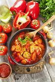 Meat stew with vegetables stock photo
