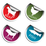 Meat stickers Stock Images