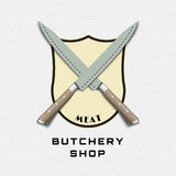 Meat store badges logos and labels for any use Stock Photos