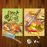 Meat store Stock Images