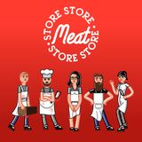 Meat store concept Royalty Free Stock Photos