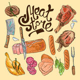 Meat store Stock Image