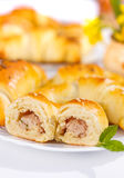 Meat stuffed crescent roll Stock Photography
