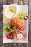 Meat stuffed with egg Royalty Free Stock Photo