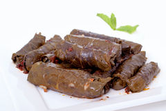 Meat stuffed grape leaves Royalty Free Stock Photography