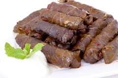 Meat stuffed grape leaves Stock Image