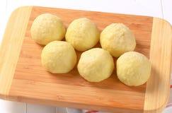 Meat stuffed potato dumplings Royalty Free Stock Photo
