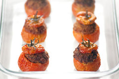 Meat Stuffed Tomatoes Stock Photography