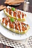 Meat stuffed zucchini Royalty Free Stock Photo