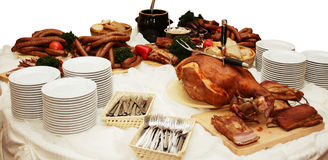 Meat table Royalty Free Stock Image