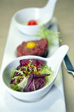 Meat tartare with salad Stock Photos