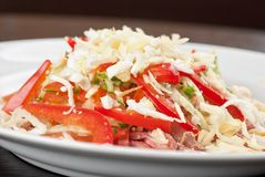 Meat tasty salad Royalty Free Stock Images