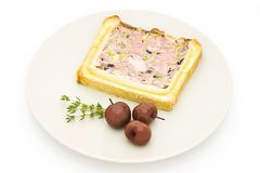 Meat terrine. With pistachio, some cherries Stock Photography
