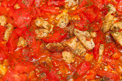 Meat with tomatoes Royalty Free Stock Image