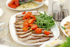 Meat and Tomato Royalty Free Stock Photography