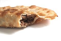 Meat Turnover pie Stock Photo