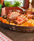 Meat under a bell royalty free stock image