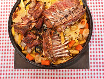 Meat under a bell royalty free stock photo