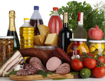Meat variety of Food Produce Stock Photo