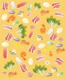 Meat and vegetable Background. The Meat and vegetable Background vector illustration