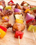 Meat and Vegetable Kebabs Royalty Free Stock Images