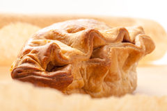 Meat and Vegetable Pasty Closeup Royalty Free Stock Images