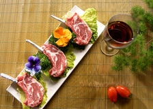 Meat and vegetable plate Royalty Free Stock Photography
