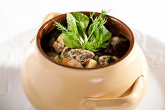 Meat and Vegetable Pot Royalty Free Stock Image