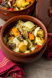 Meat and vegetable ragout. Stew. Stock Image
